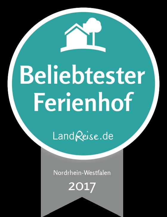 Beliebtester Ferienhof Nordrhein-Westfalen 2017 - LandReise.de