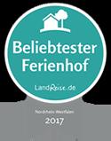 Beliebtester Ferienhof Nordrhein-Westfalen 2017