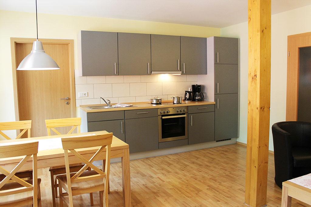 Komfortable, ausgestattete Küche auf dem Gutshof Schulze Althoff