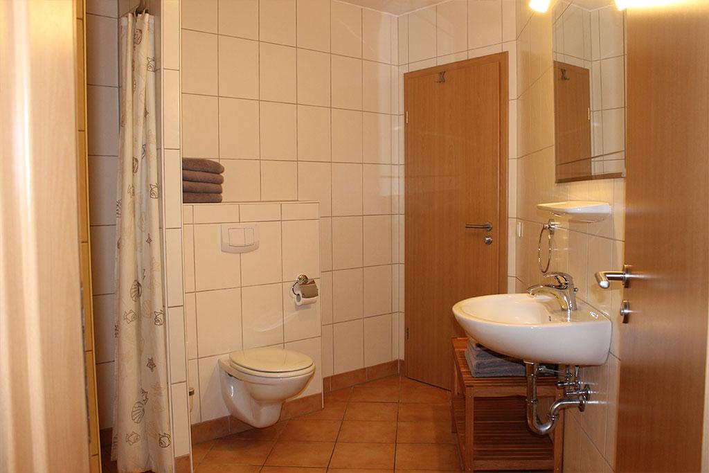 Modernes Badezimmer auf dem Gutshof Schulze Althoff