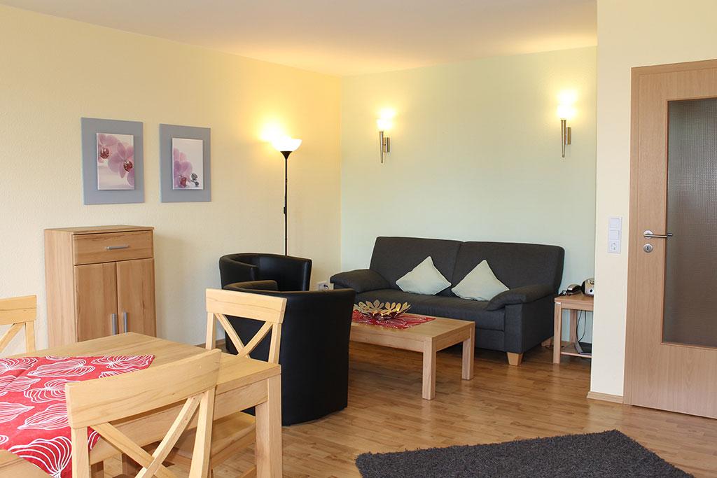 Gemütliches Wohn-Esszimmer Ferienwohnung Nr. 4 auf dem Gutshof Schulze Althoff