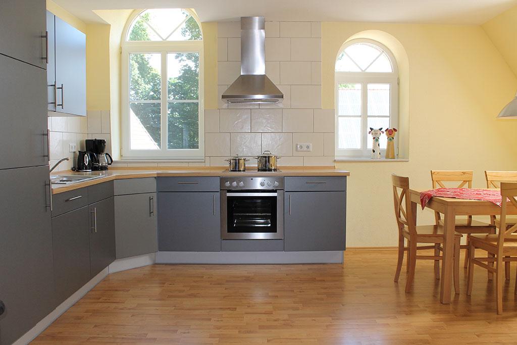 Komfortable, ausgestattete Küche Ferienwohnung Nr. 5 auf dem Gutshof Schulze Althoff