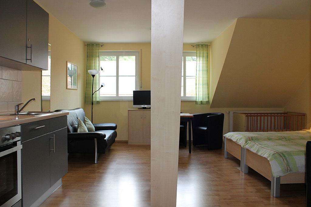 Wohnbereich Ferienwohnung 7 auf dem Gutshof Schulze Althoff