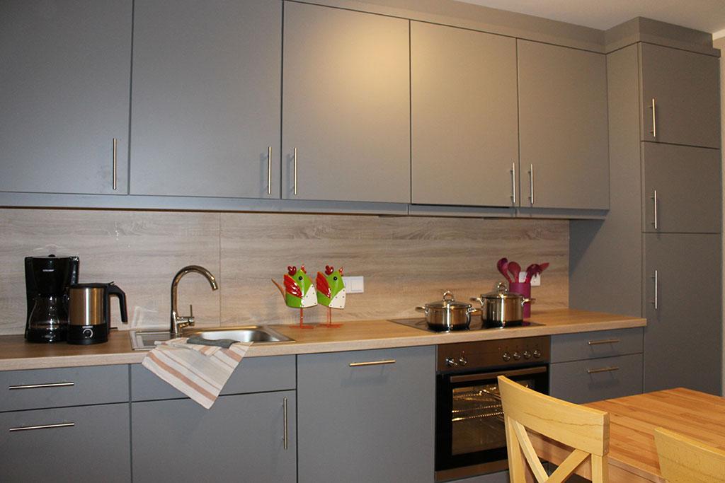 Komfortable, ausgestattete Küche Ferienwohnung Nr. 10 auf dem Gutshof Schulze Althoff