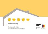 DTV-Klassifizierung Ferienwohnung – 5 Sterne
