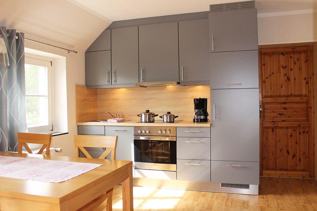 Komfortable, ausgestattete Küche